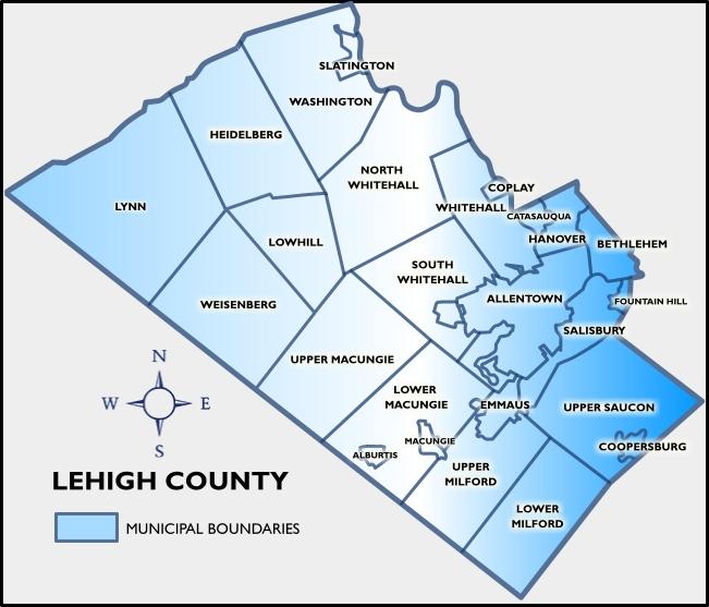 Lehigh County Map Lehigh county map   AAA Public Adjusters LLC
