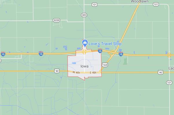 AAA Public Adjuster Iowa Louisiana - Iowa, la Map Image